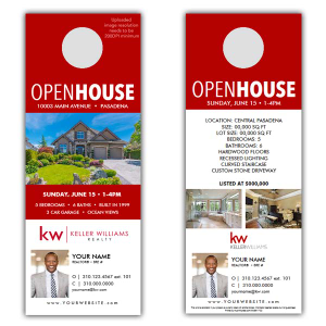Door Hangers - Keller williams open house flyer template